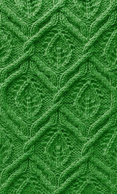 Blatt-Zopfmuster | Stricken | Pinterest | Zopfmuster, Blätter und ...