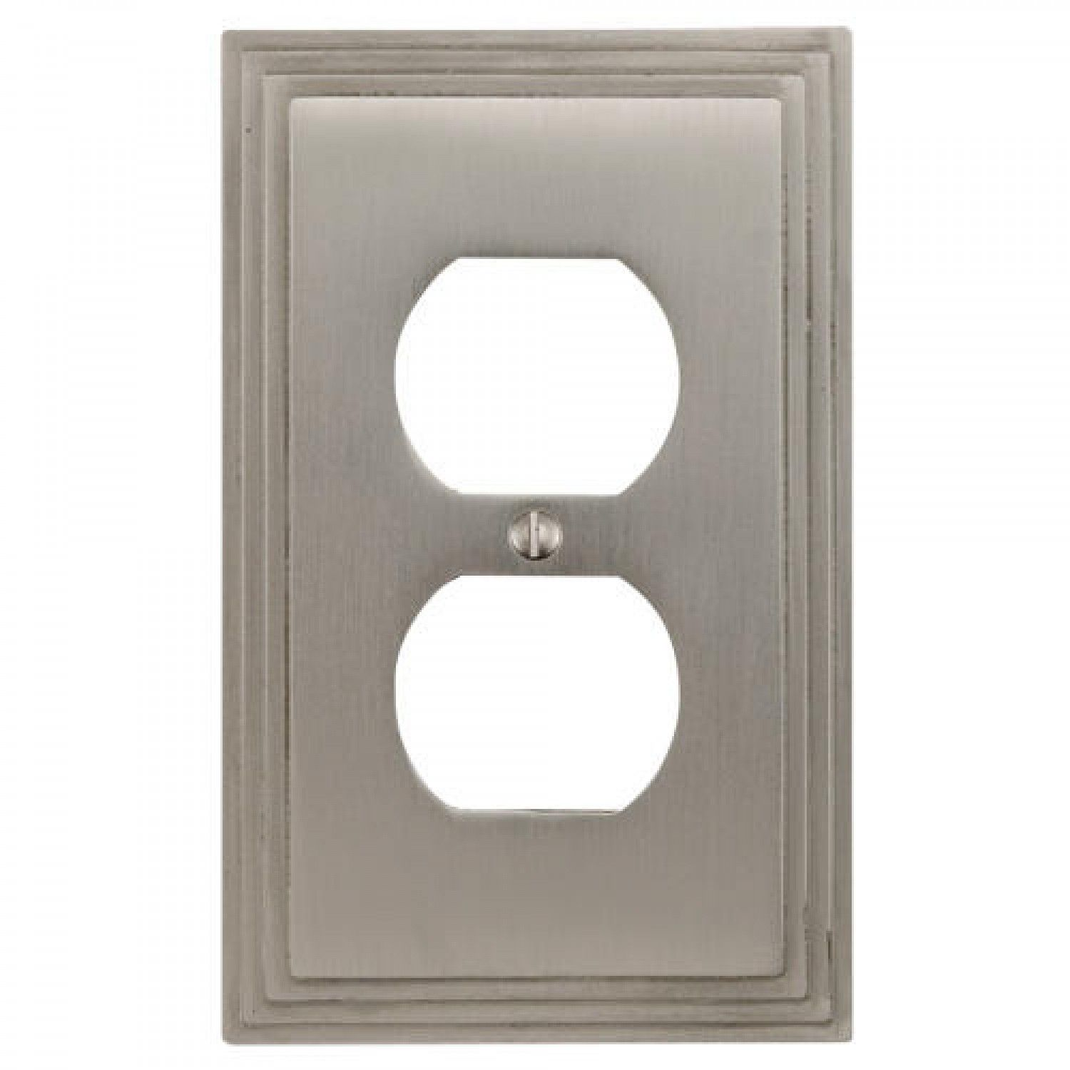 Wall Plug Plates Deco Design Solid Brass Duplex Outlet Cover  Solid Brass Outlets
