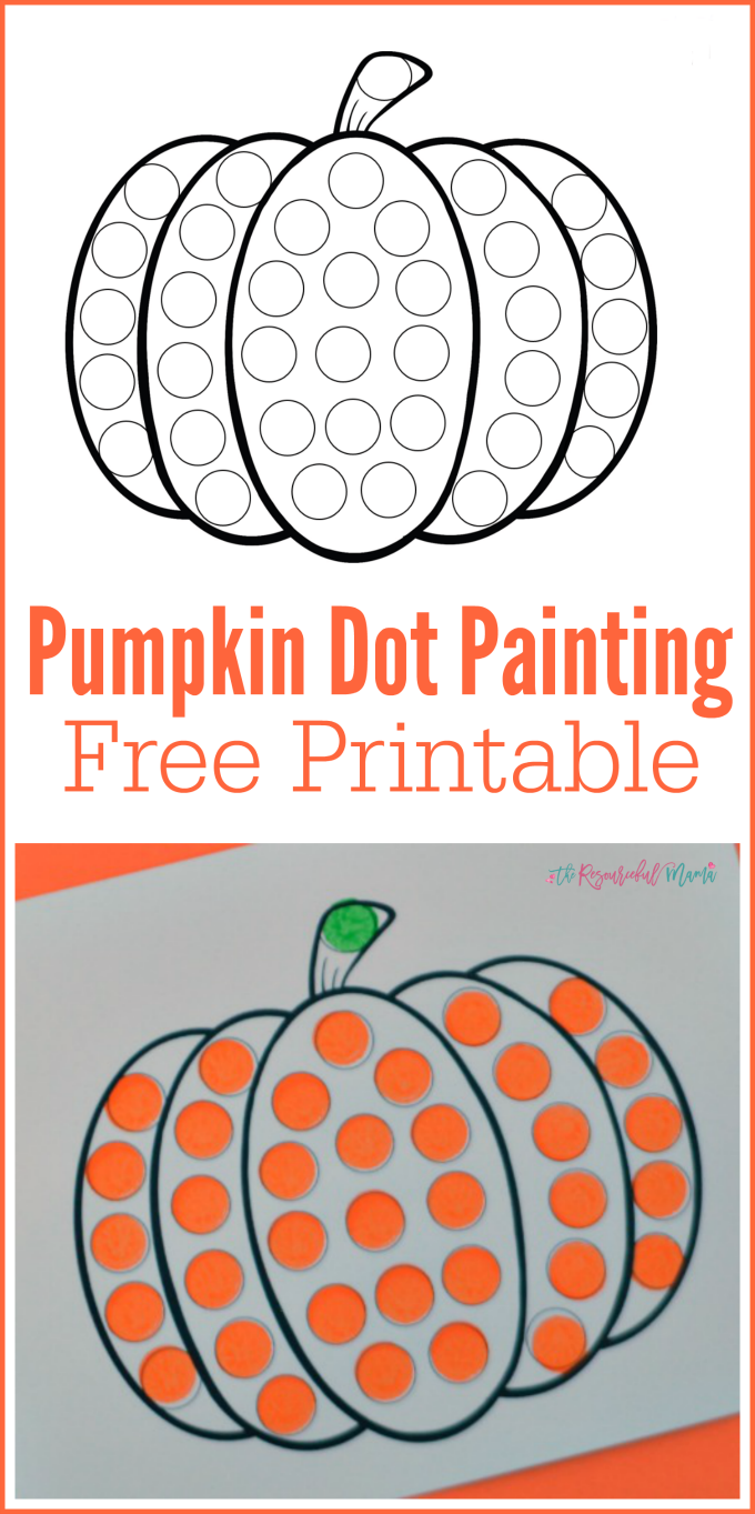 graphic regarding Printable Bingo Markers named Pumpkin Do a Dot Worksheet Dot marker printables Drop