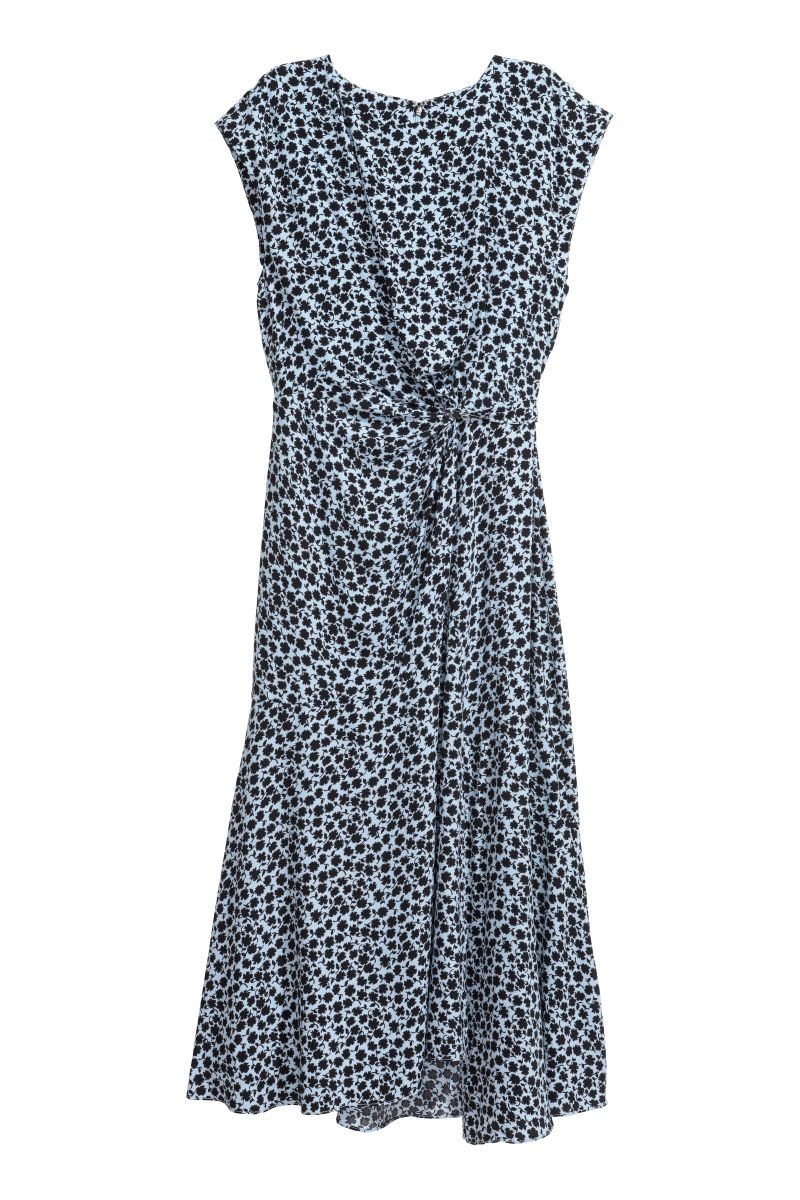 d1f4cbff5920 Mönstrad klänning   Ljusblå/Mönstrad   DAM   H&M SE Crepes, Mönster Klänning ,
