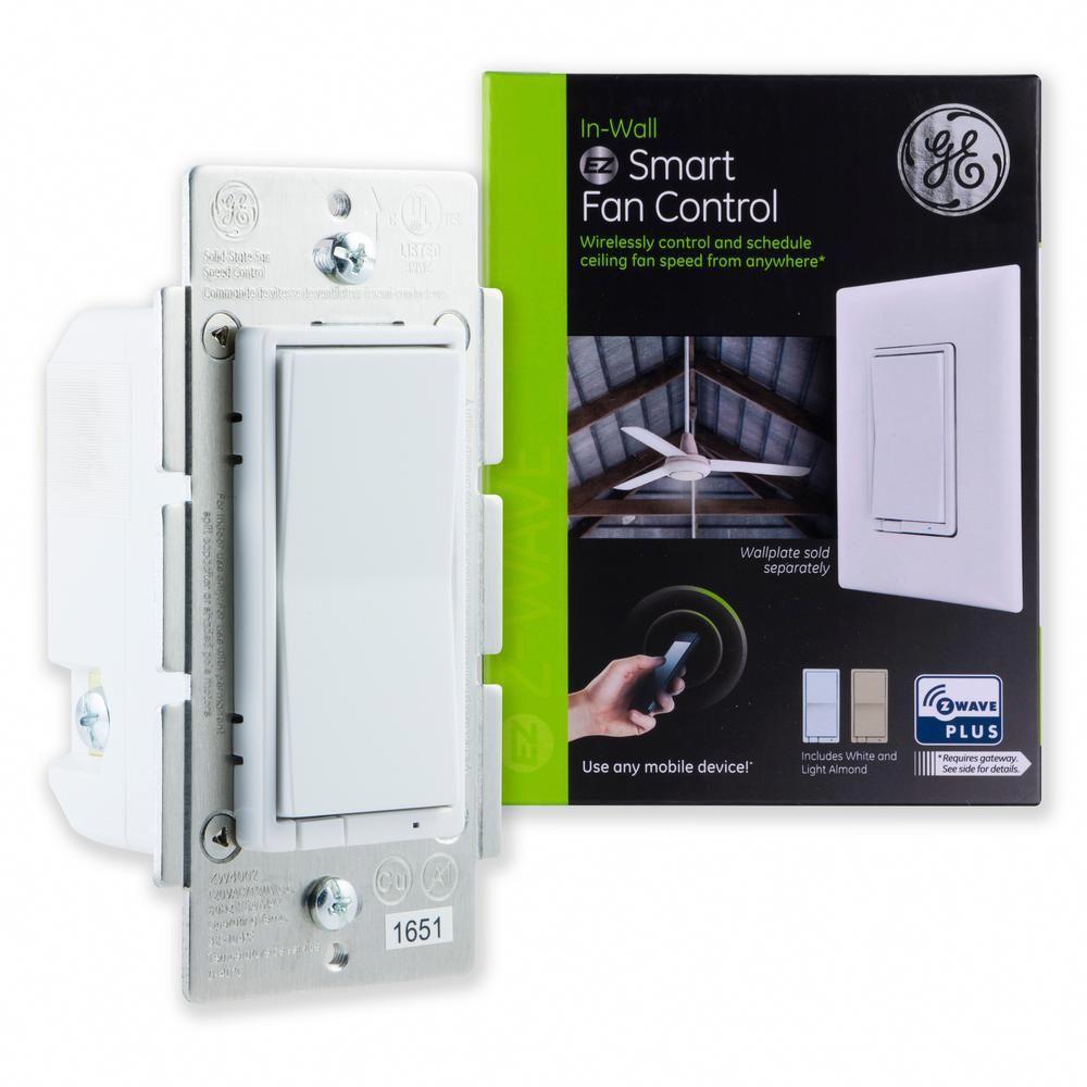 Ge Z Wave Plus In Wall Smart Fan Control White Lt Almond