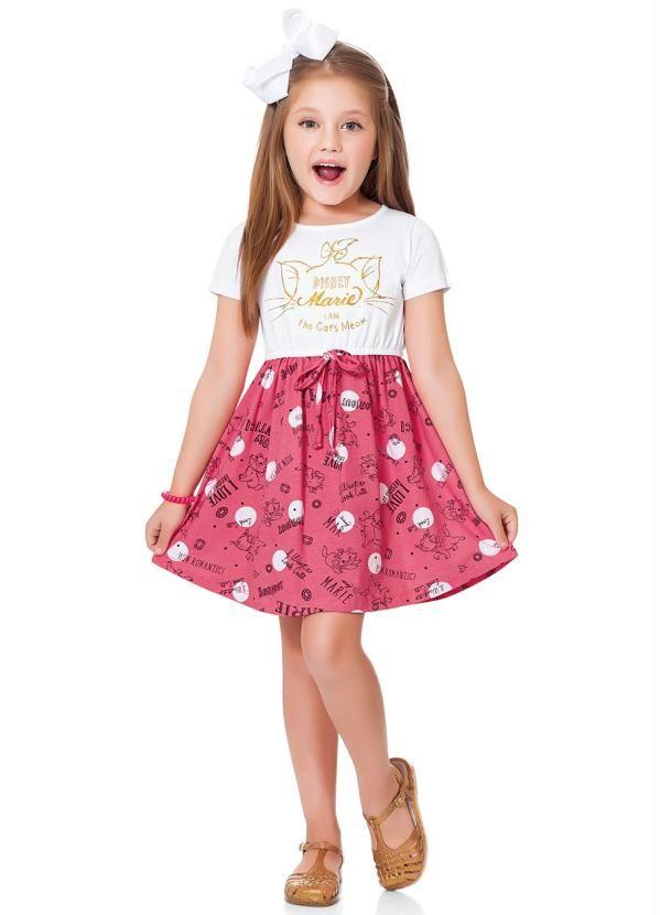 b278f6272f6b6d Vestido Branco/Rosa Fakini Kids Marie | Products em 2019 | Vestido ...