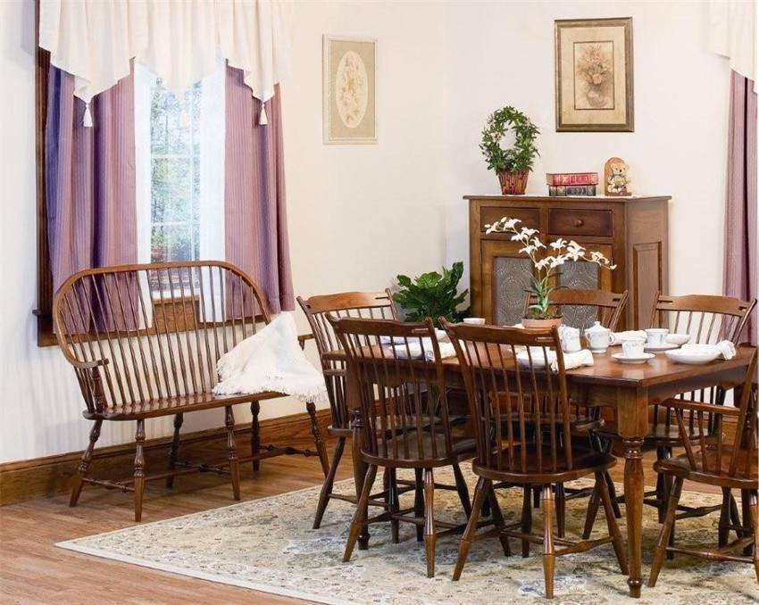 Amish Holliston Thumbback Windsor Chair Amish Furniture