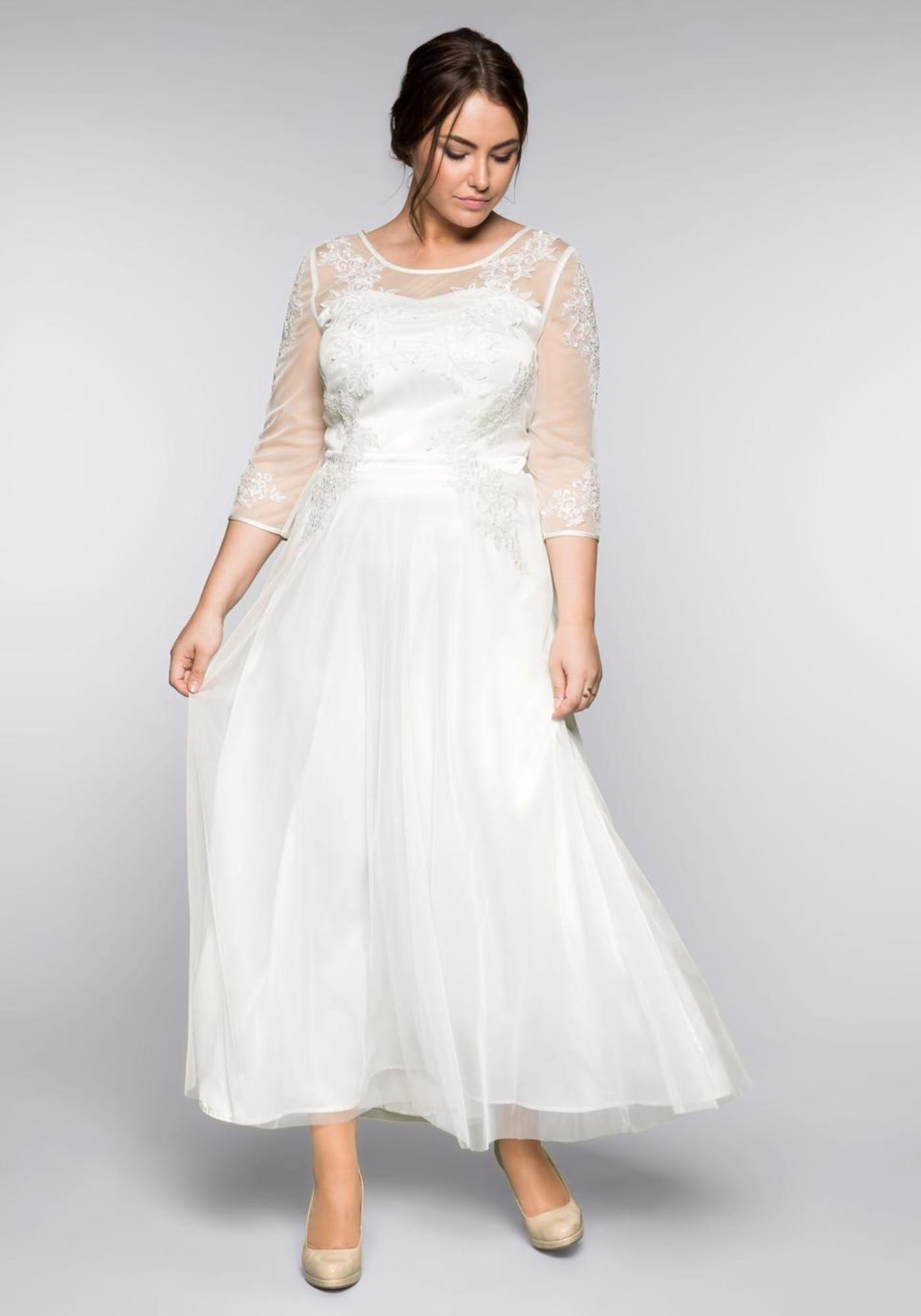 SHEEGO Kleid Damen, Offwhite, Größe 19  Abendkleid, Kleider