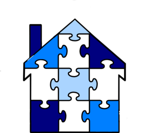 Puzzle Pieces House Clip Art Vector Clip Art Online Royalty Free