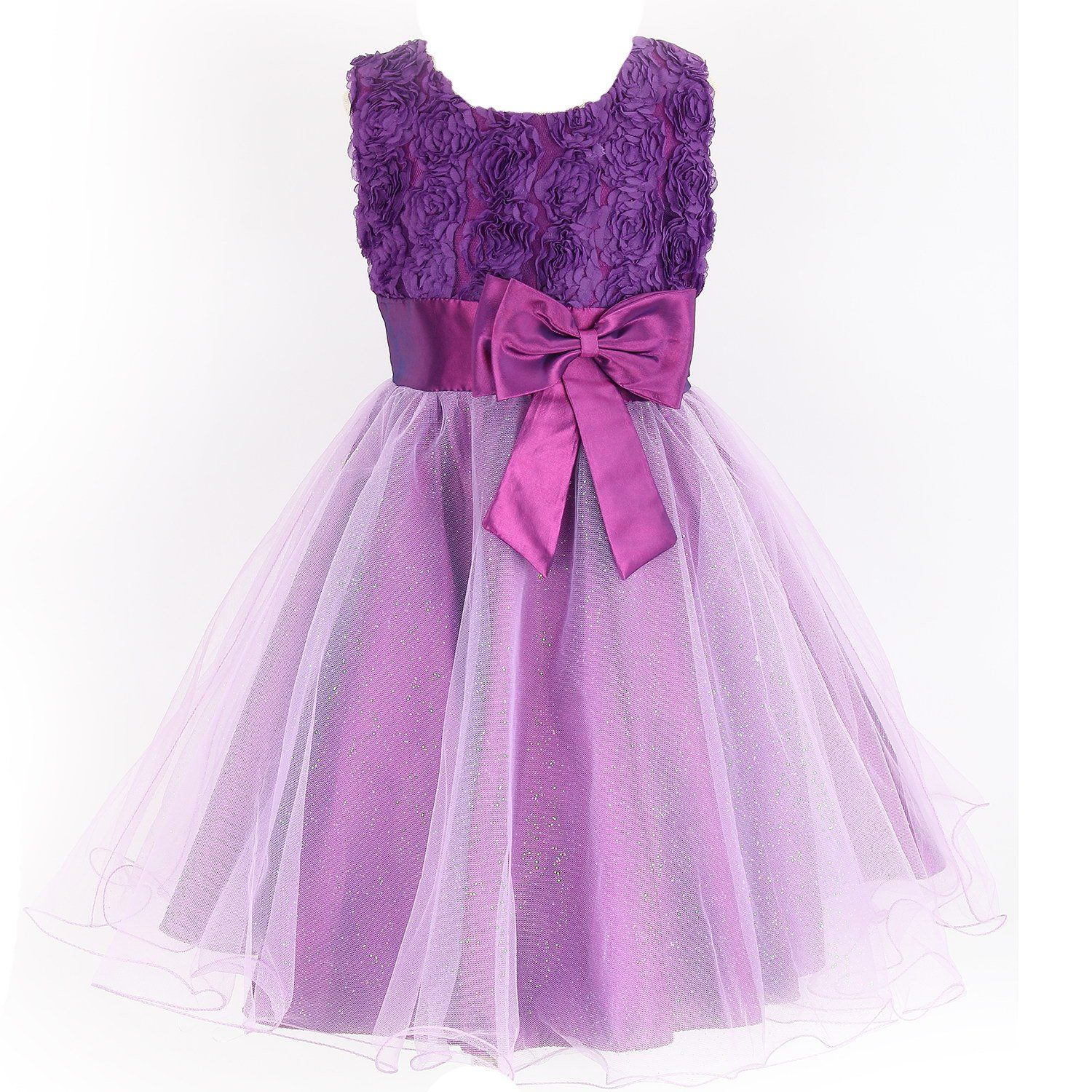 Girls Flower Formal Wedding Bridesmaid Party Christening Princess ...