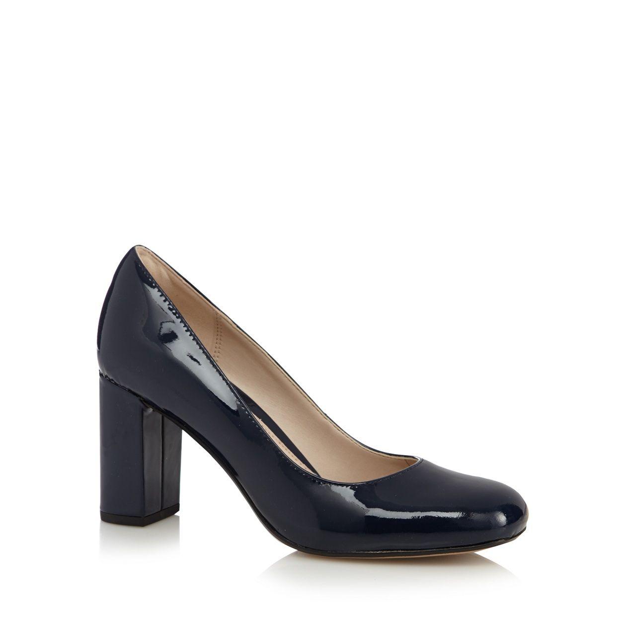 d2bb9cf2c9a Clarks Navy 'Gabriel Mist' leather patent high heeled shoes ...