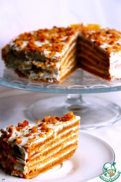 Торт тыквенно-апельсиновый - кулинарный рецепт