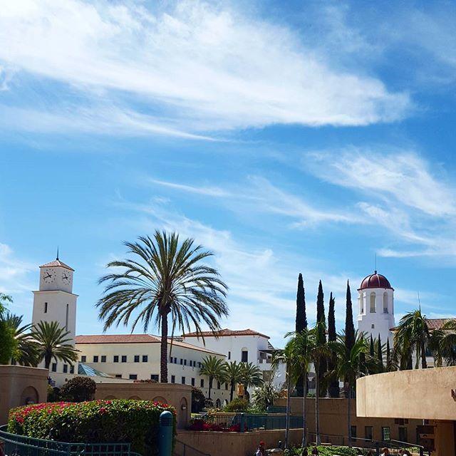 "@alexisstewart's photo: ""#sdsu #sdsuaztecs #california #collegelife #sandiegostate #sandiegostateuniversity #sandiego #sky #clouds #spring"""