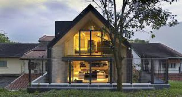 2 Gable Roof Styles Have High Pitched House Design Elegant Interiors House