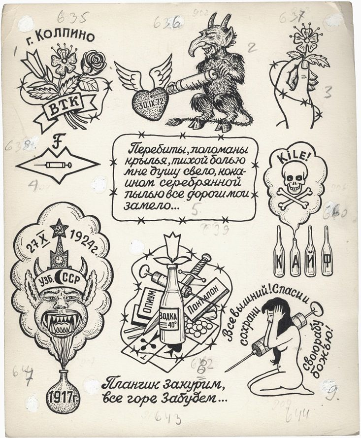 Russian Tattoo Meanings Wiki: Russian Criminal Tattoo Drawing_6003