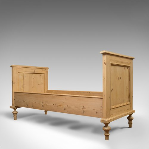 Antique Bed Frame, English, Victorian, Pine Antique beds