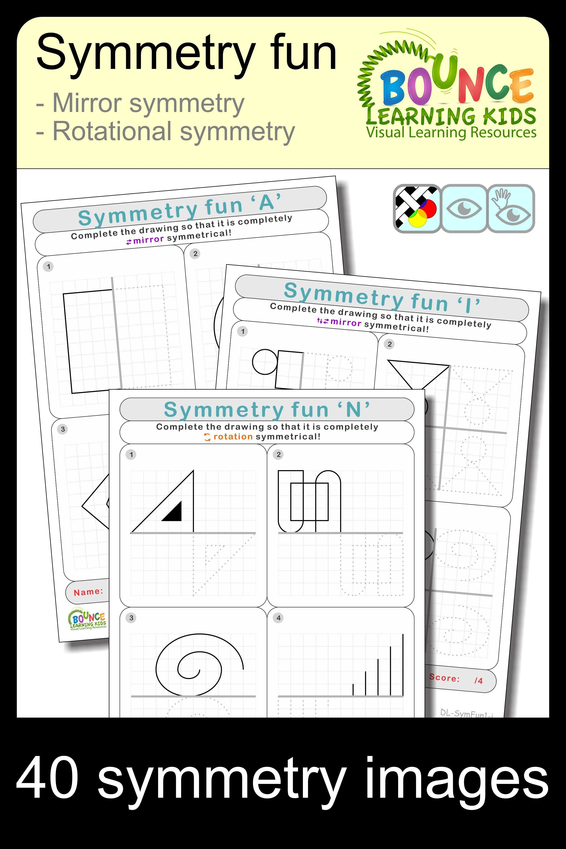 This Extensive Range Of Worksheets Tackles Symmetry In Its