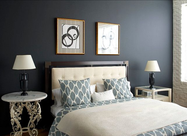 the paint color in this bedroom is off blackfarrow and