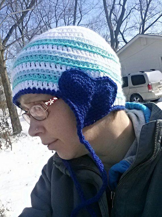 Lovey Dovey Valentine Hat  in icy blues by FreaksInYarn on Etsy, $22.00 #mmmakers