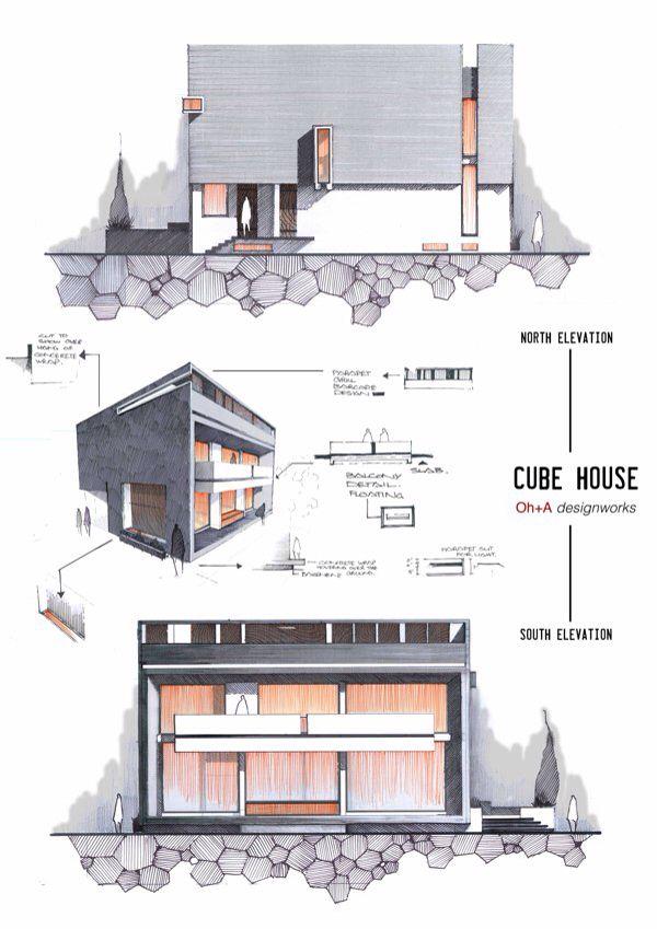 Exemplos de pranchas Arsitektur Pinterest Arquitetura, Desenho