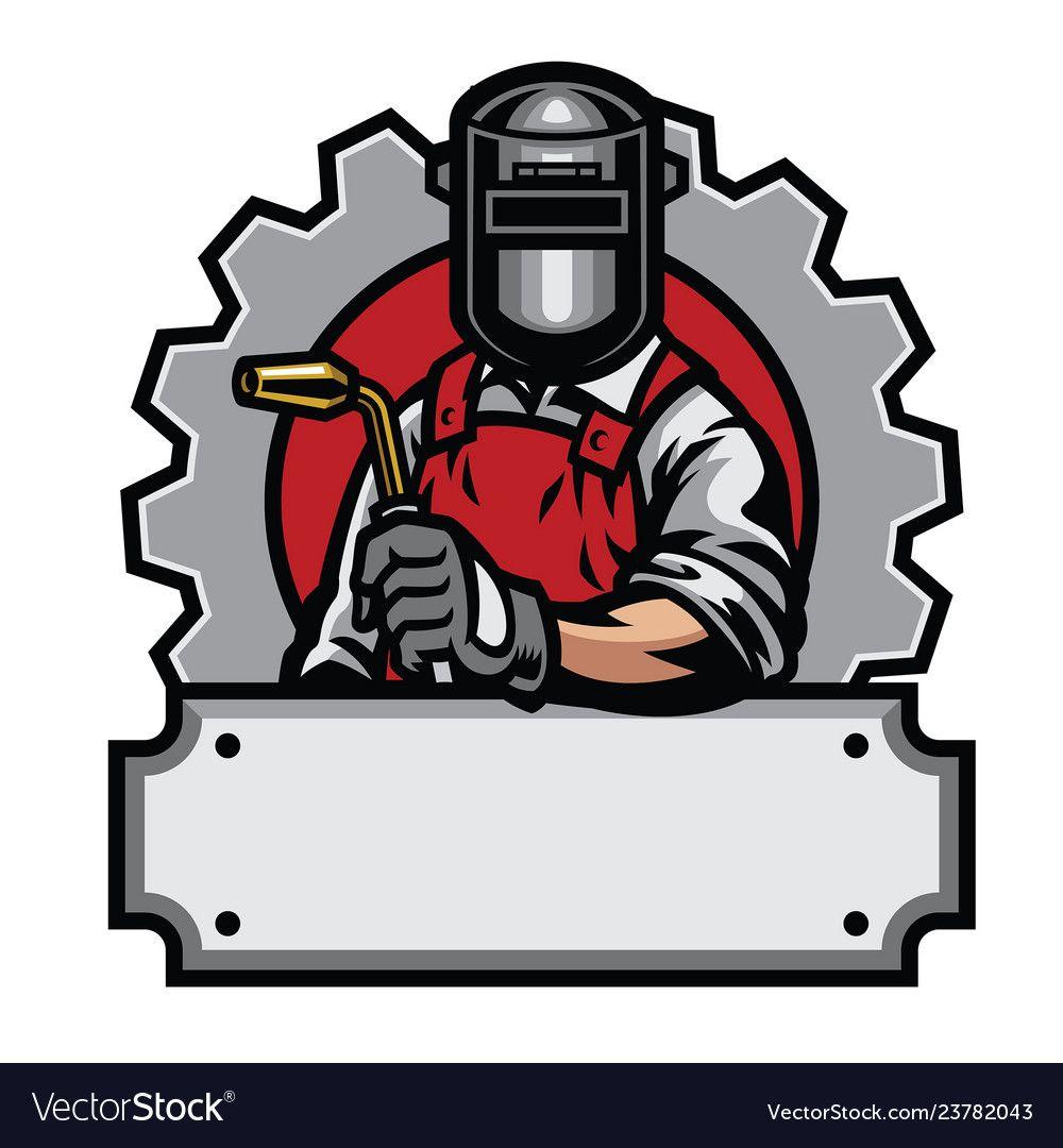 Welder with welding tools vector image on | Arte de ...