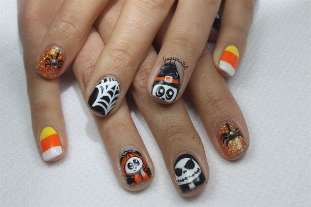 Halloween With Images Halloween Nail Designs Gel Nails Nails