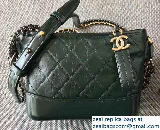 5d07e57b06ce Chanel Gabrielle Small Hobo Bag A91810 Dark Green 2017 | [GROUP ...