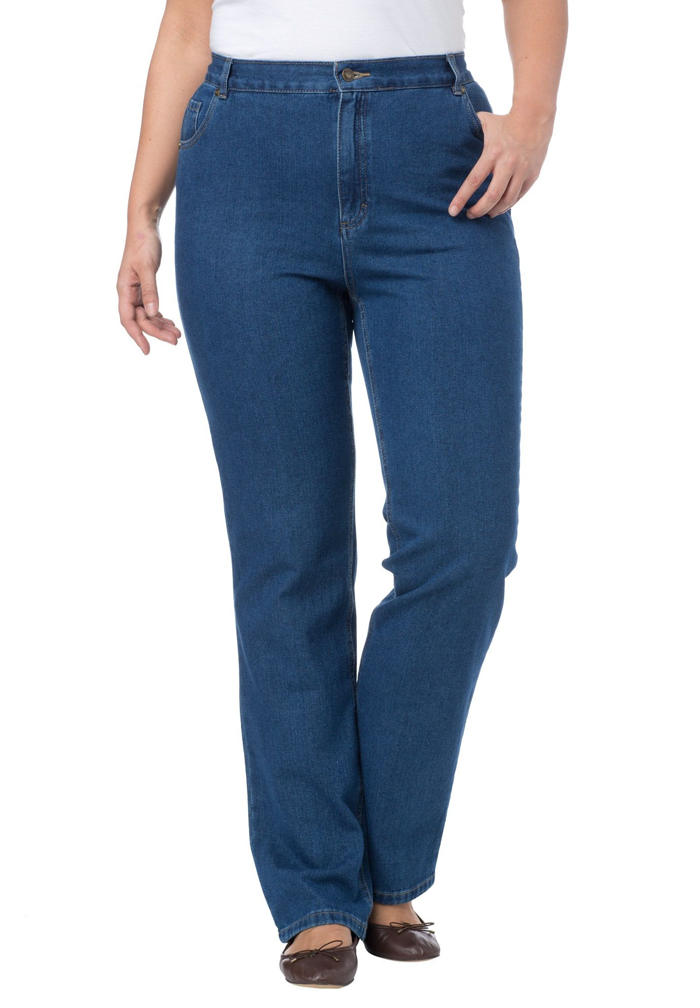Elastic side waist relaxed fit jeans relaxed fit jeans