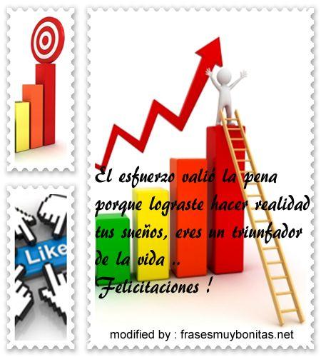Frases de felicitaciones por exitos logrados