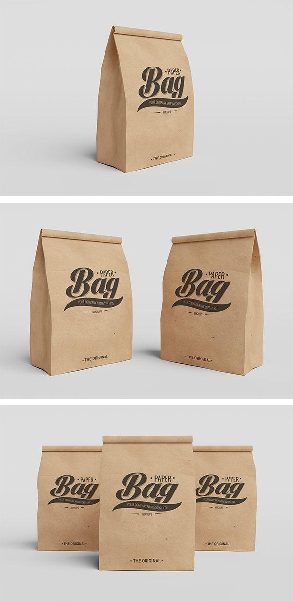 Download Paper Bag Psd Mockups Embalagem De Cafe Caixa De Pizza Embalagens