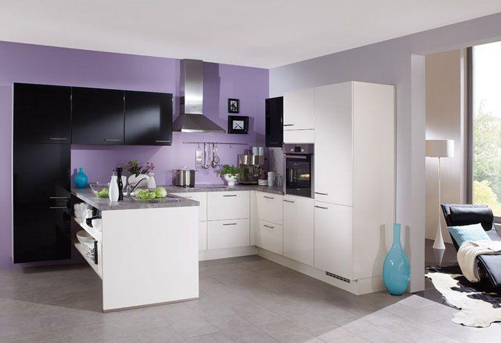 Küche in Schwarz-Weiß #Kücheninsel wwwdyk360-kuechende kitchen - küche schwarz weiß