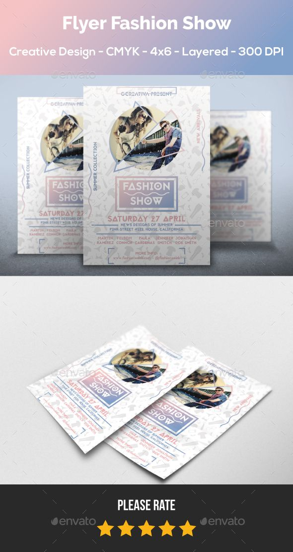 Flyer Fashion Show Flyer Template Template And Event Flyer Templates