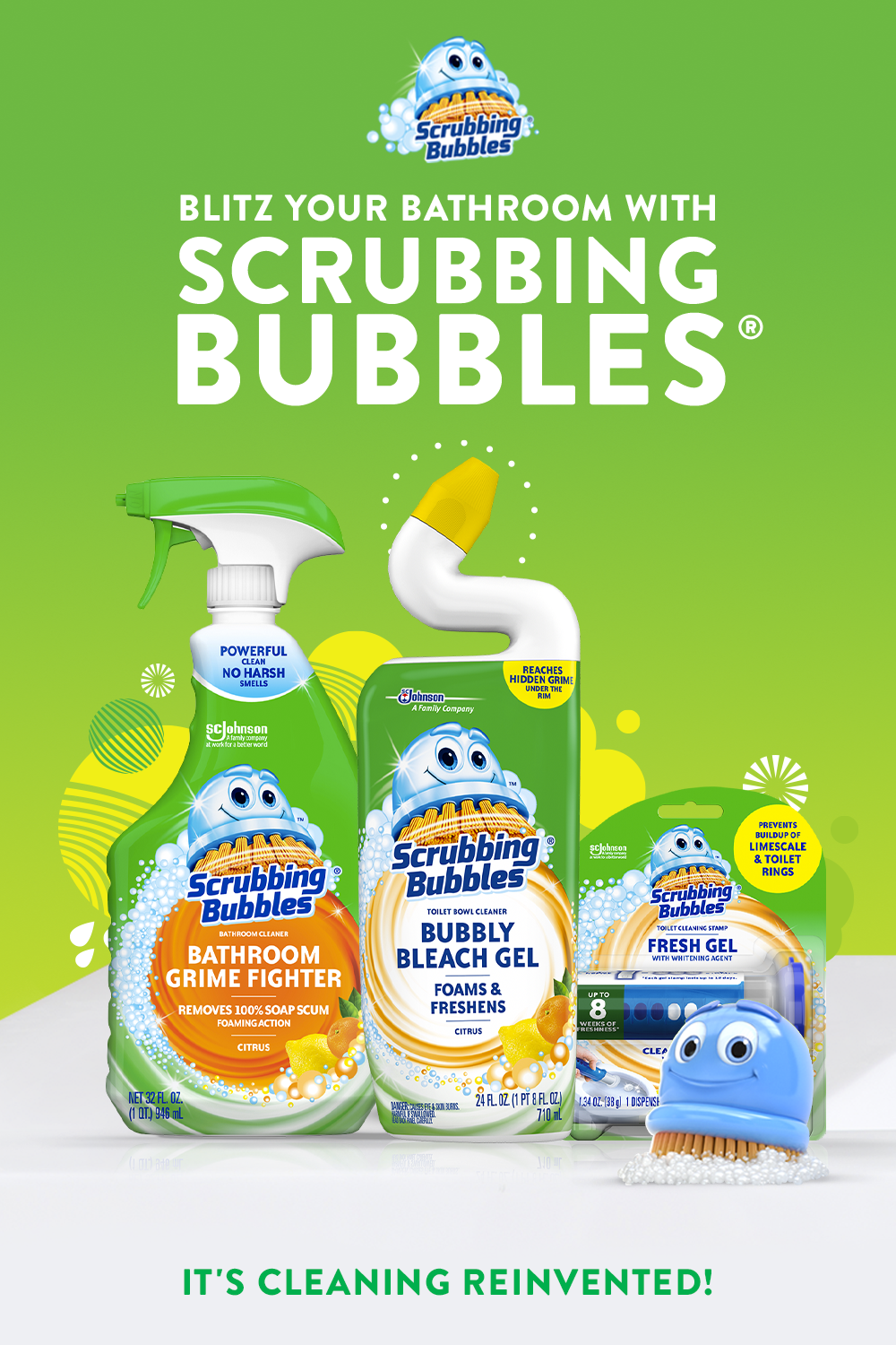 Perfect Your Cleaning Schedule With Scrubbing Bubbles Fight Grime On Sinks And Countertops With Bathroom Grime Fi Scrubbing Bubbles Cleaning Bathroom Cleaning