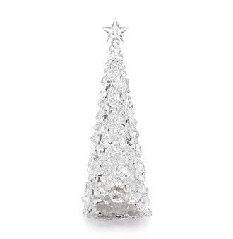 LivingQuarters LED Acrylic Christmas Tree Decoration at www.elder-beerman.com