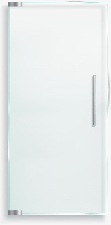 Vector Diagram Hand Single Glass Door Transparent Bathroom Door Glass Door Doorknob Single Vector Hand Painted Vector Glass Vector Door Glass Door Doors Glass