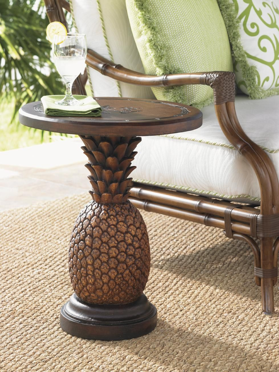 Alfresco Living Sienna Pinele Table With Weatherstone