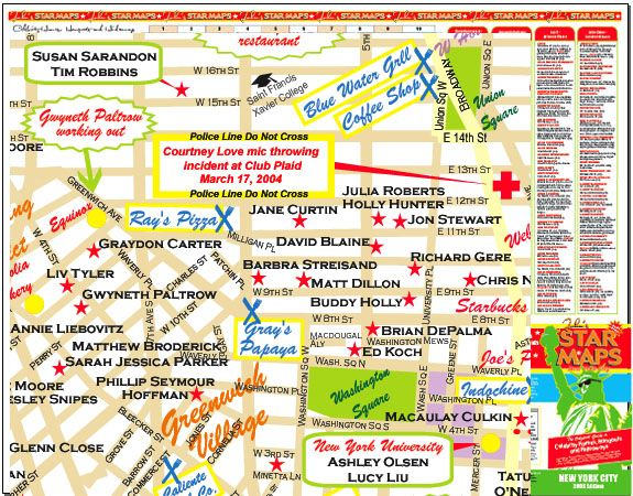 Celebrity Homes Map on