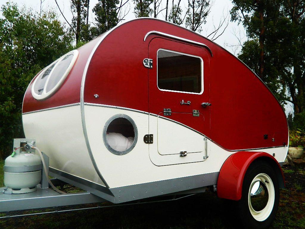 NEW Vintage Style Karavana Teardrop Camper Trailer Small Caravan ...
