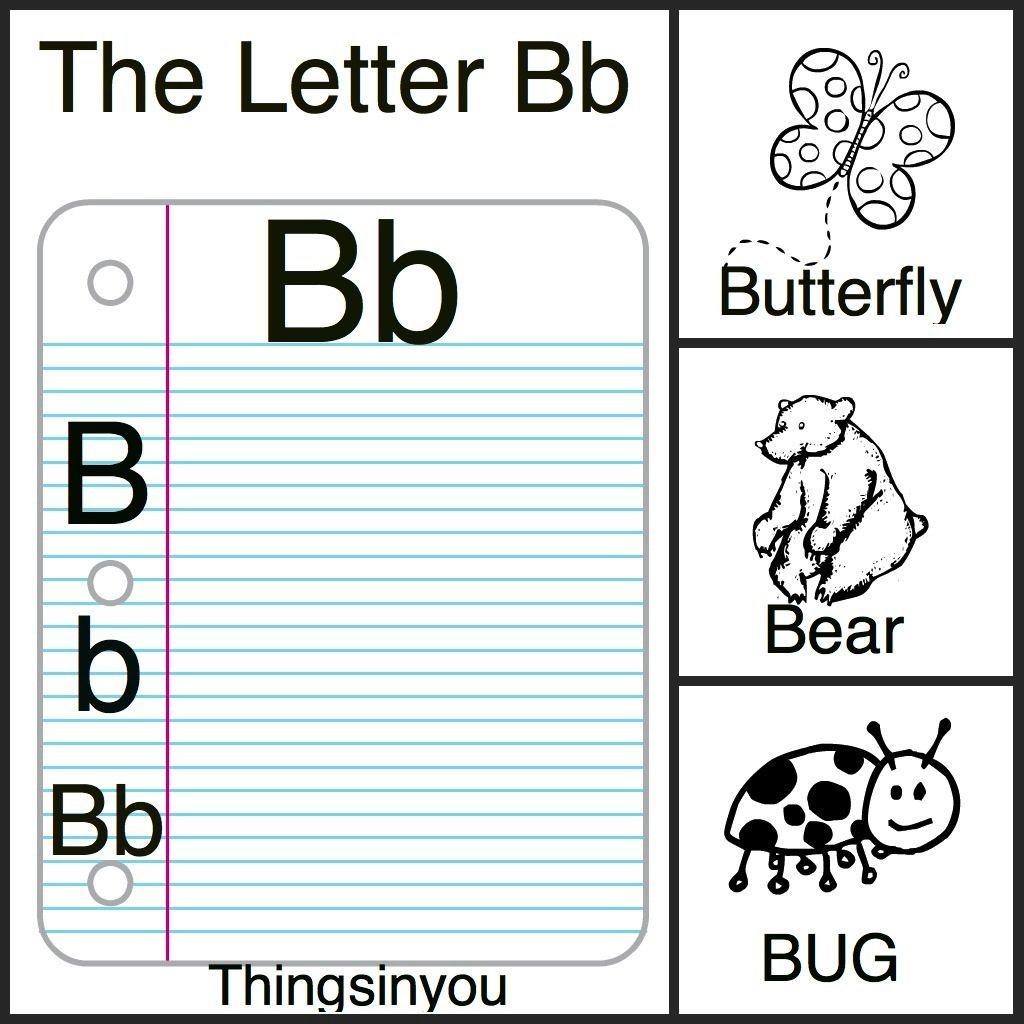 Alphabet Printables Letter Bb