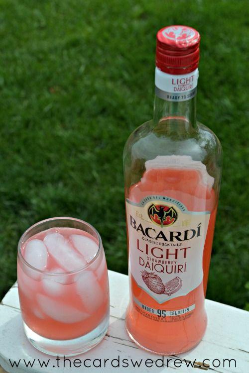 bacardi light strawberry daiquiri drink for summer