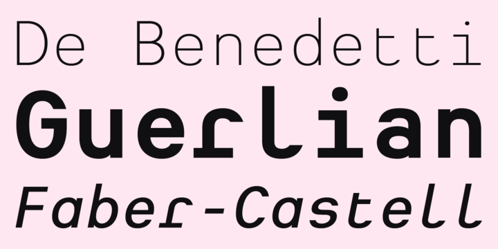 Heimat Mono is the monospaced typeface family within the Heimat Collection, also containing Heimat Sans, Heimat Serif and Heimat Stencil.