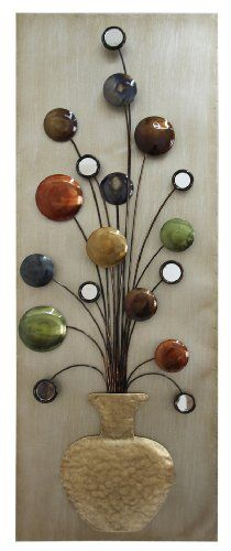 Home Source Industries 400 25423 Metal Wall Art 12 By 32 Cores