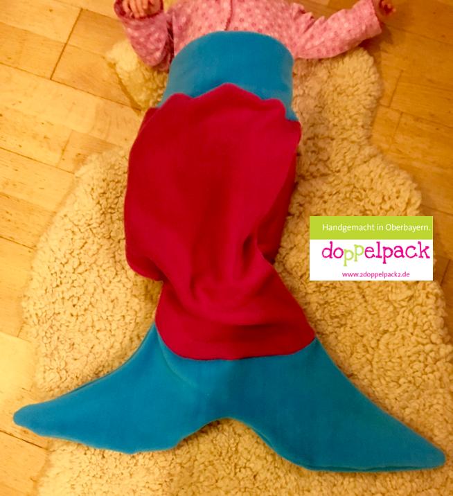 Meerjungfrau, Flosse, Decke, Meerjungfrau-Decke, Schnittmuster ...