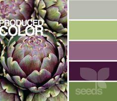Eggplant, Lime Green And Grey Decor Palette   Google Search · Artichokes Bathroom ColorsKitchen ColorsPurple ...