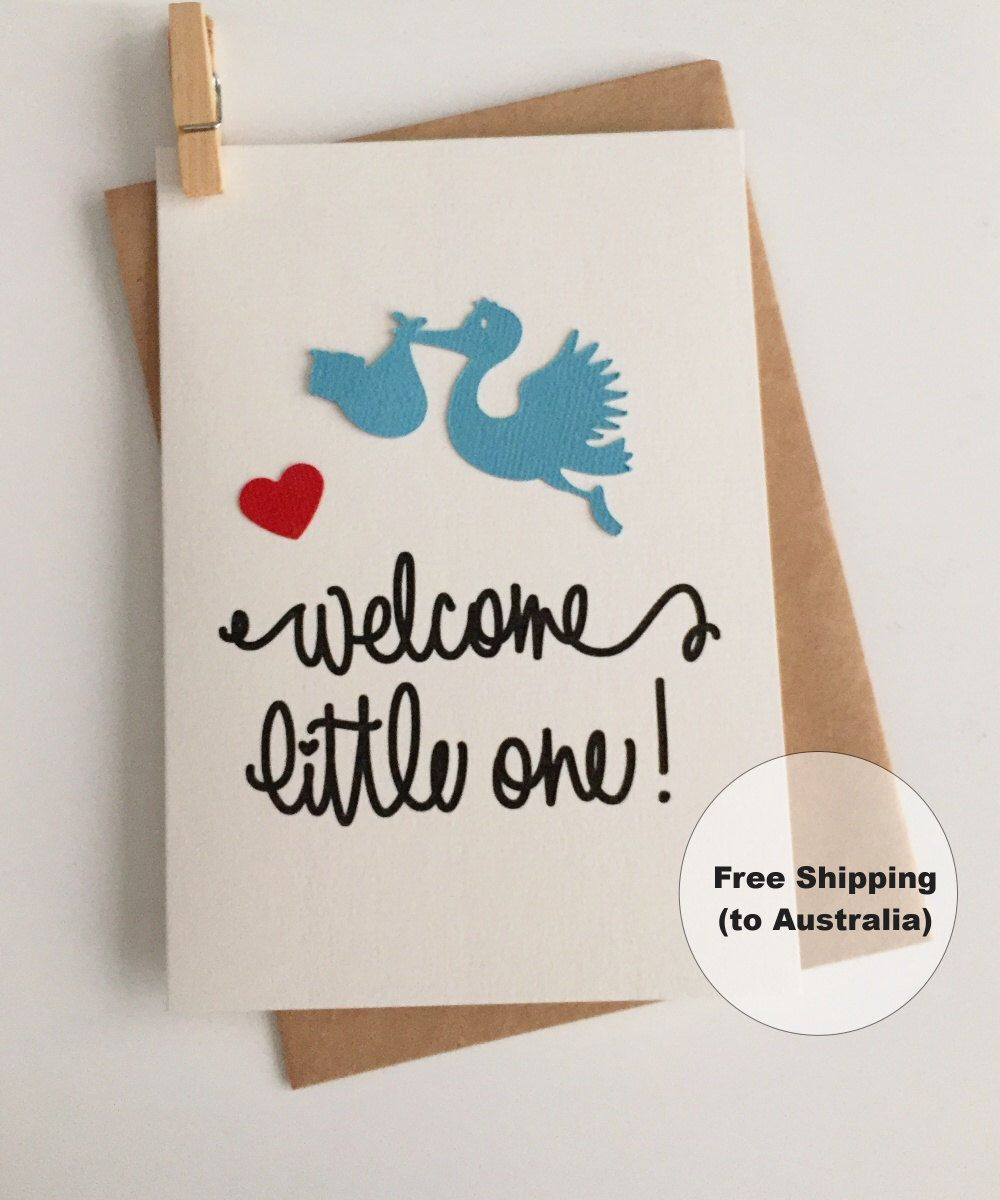 Welcome little one baby card congratulations baby boy card blue welcome little one baby card congratulations baby boy card blue stork baby card new baby boy card baby stork card kristyandbryce Gallery