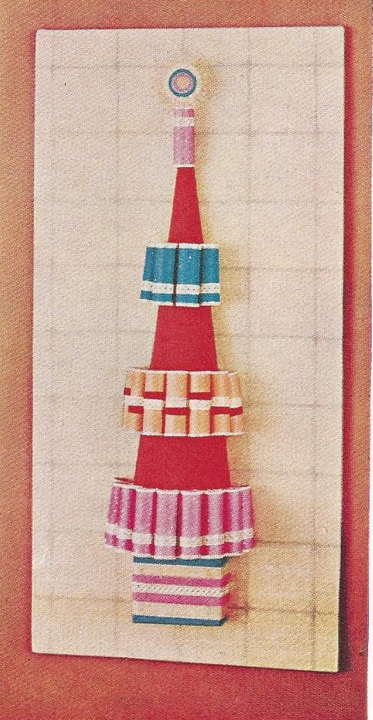 Tissue paper roll tree from the 1966 BHG Treasury of Christmas Ideas