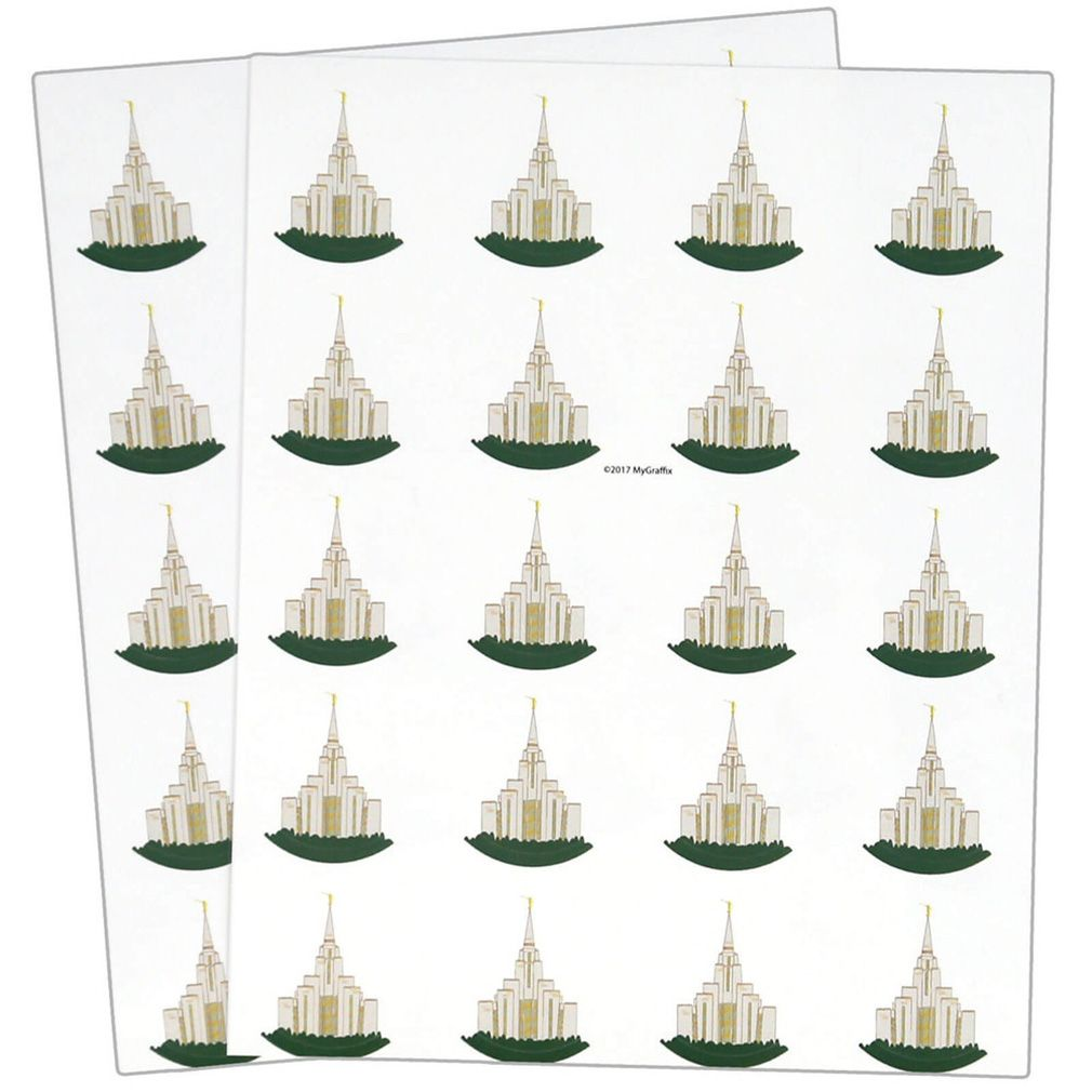 Oquirrh Temple Stickers 40 count Utah temples, Temple