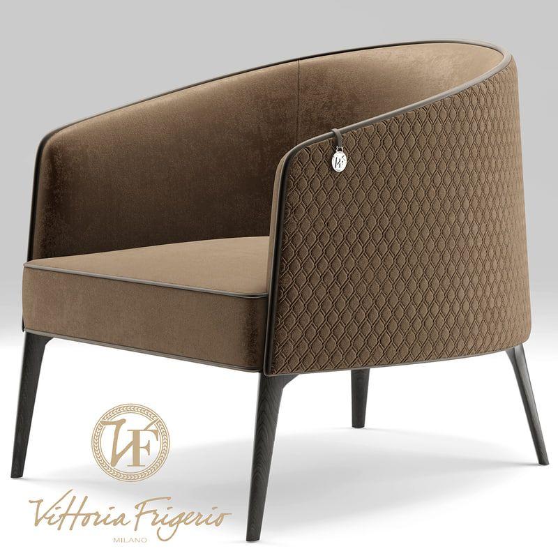 3d armchair vittoria frigerio butacas en 2019 sillas - Sofas individuales modernos ...