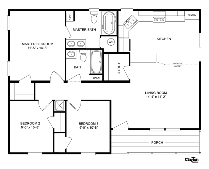 Floor plans of manufactured homes