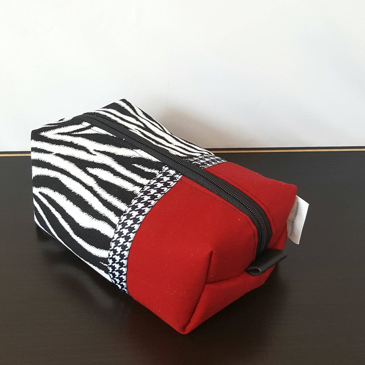Cosmetics black leather gloves lyrics - Zebra Red White Black Makeup Bag Black Faux Leather Cosmetic Bag Toiletry Bag Large Makeup Bag Personalized Mothers Day Gift