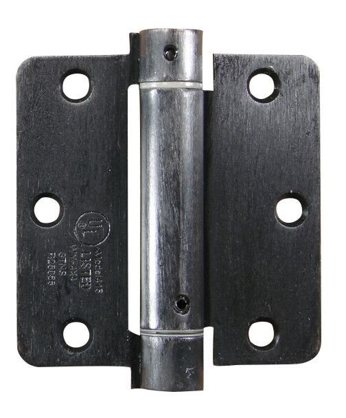Residential Self Closing Spring Hinges 3 1 2 With 1 4 Radius Corner Multiple Finishes Available 2 Pack Garage Door Springs Garage Door Spring Replacement Spring Hinge