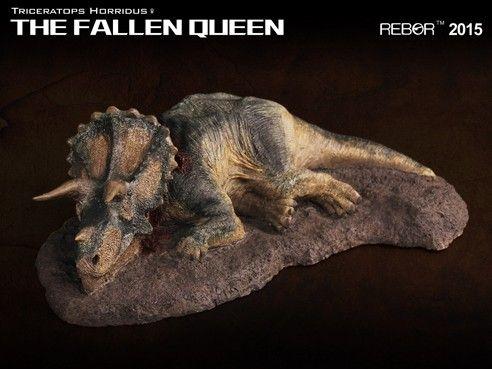 REBOR The Fallen Queen v2 Triceratops Horridus 1:35 Scale Dinosaur Model