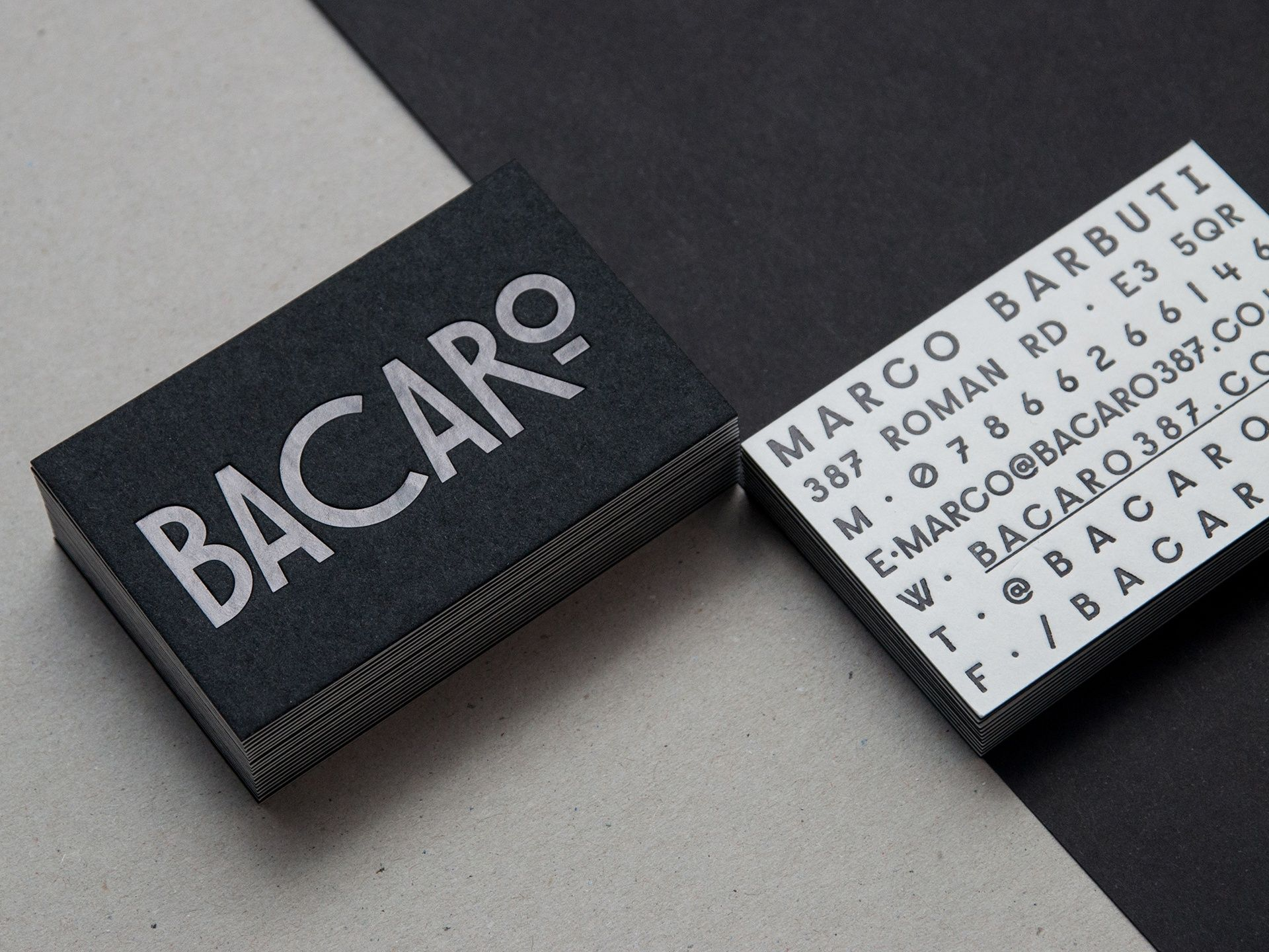 Bacaro Business Cards Businesscard Graphicdesign Print Letterpress Elegant Business Cards Design Beautiful Business Card Elegant Business Cards