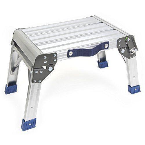 Superb Portable Folding Step Stool Aluminum Platform 350 Lb Inzonedesignstudio Interior Chair Design Inzonedesignstudiocom